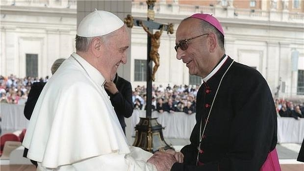 Arquebisbe de Barcelona amb el Papa Francesc
