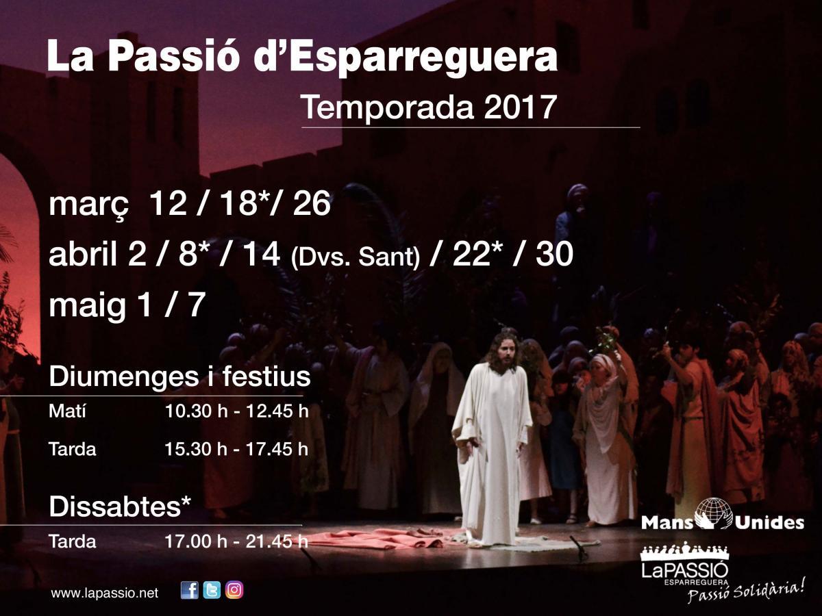 Calendari Grups de La Passió d'Esparreguera