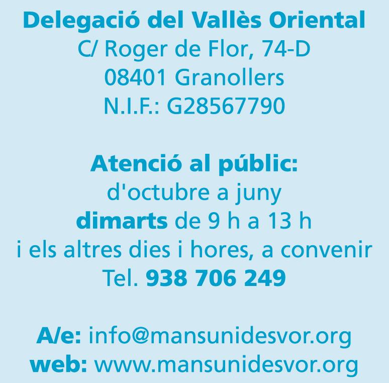Información de Manos Unidas del Vallès Oriental