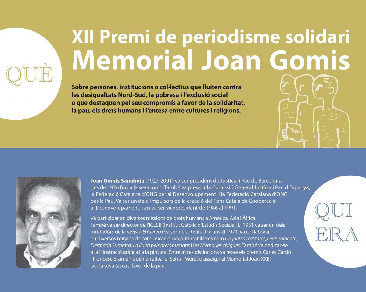 Cartell Premi Memorial Joan Gomis 2017