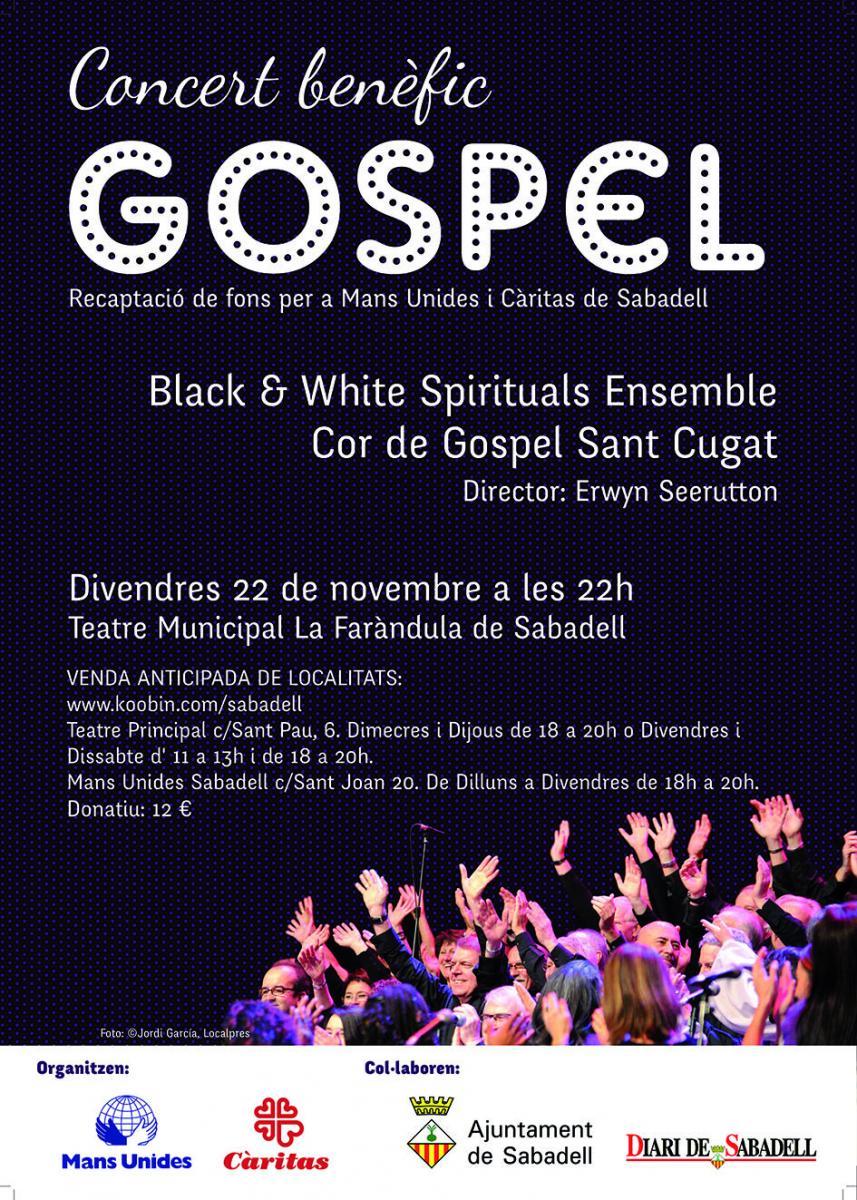 Concert solidari de Gospel a Sabadell en benefici de Mans Unides i Càritas
