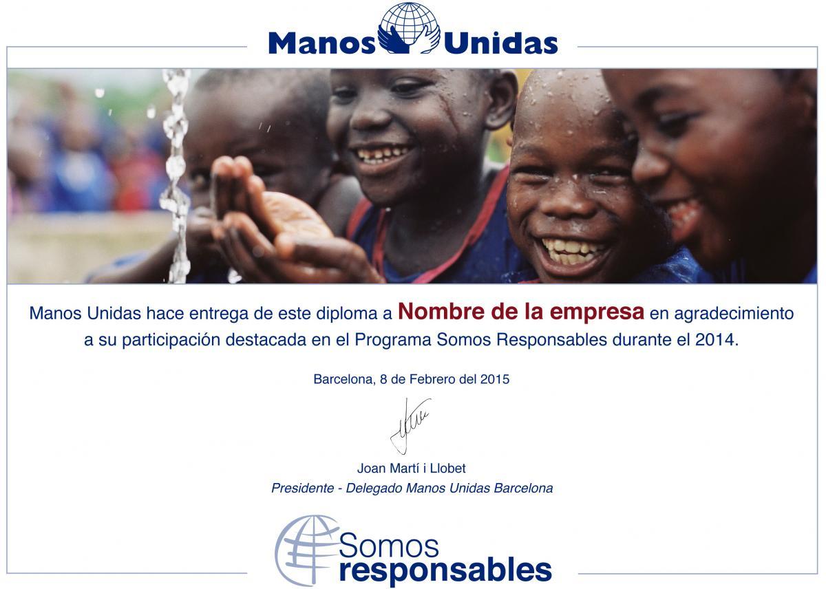 Diploma programa RSC ONG Manos Unidas