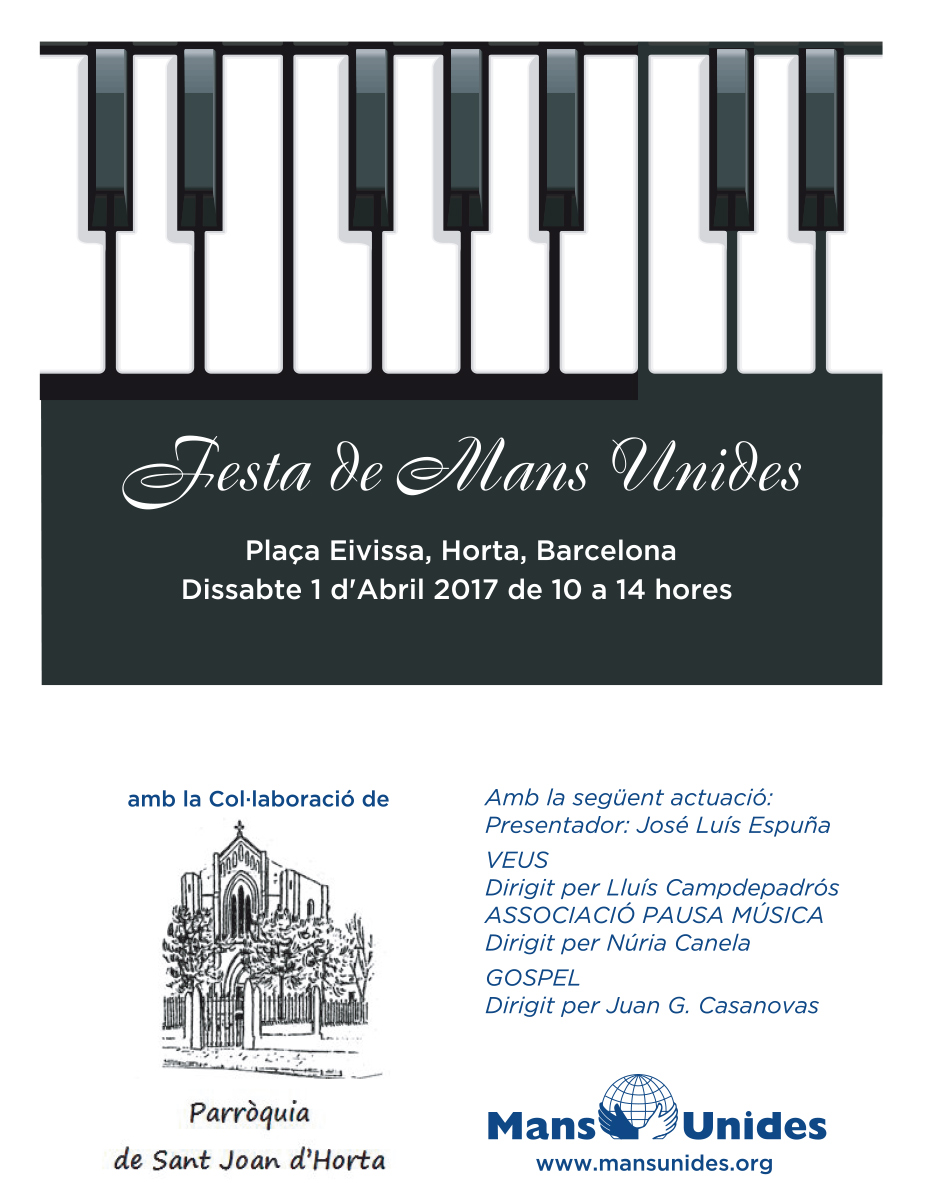Cartel Festival Mans Unides Horta