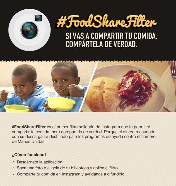 FoodShareFilter, filtro solidario de Instagram para compartir comida