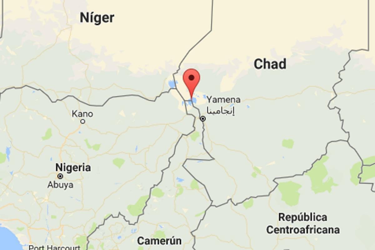 Mapa del Llac Txad