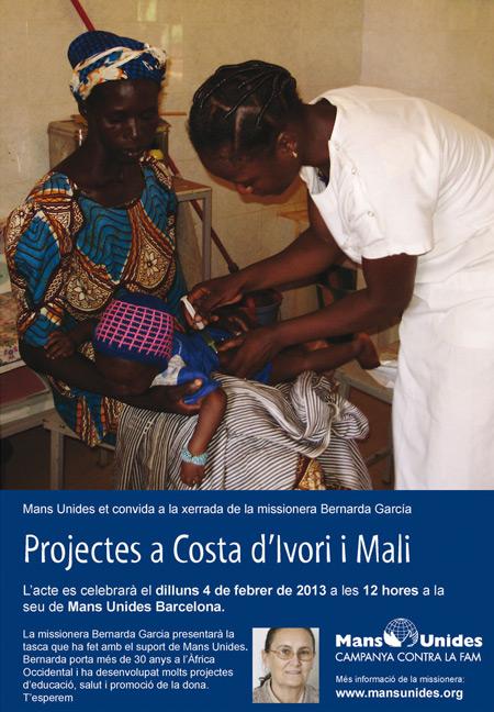 Xerrada missionera salesiana a Mali i Costa d'Ivori. Invitació