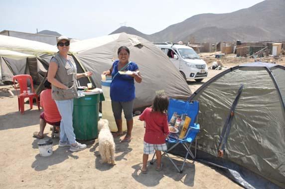 Ajuda inundacions al Perú Mans Unides