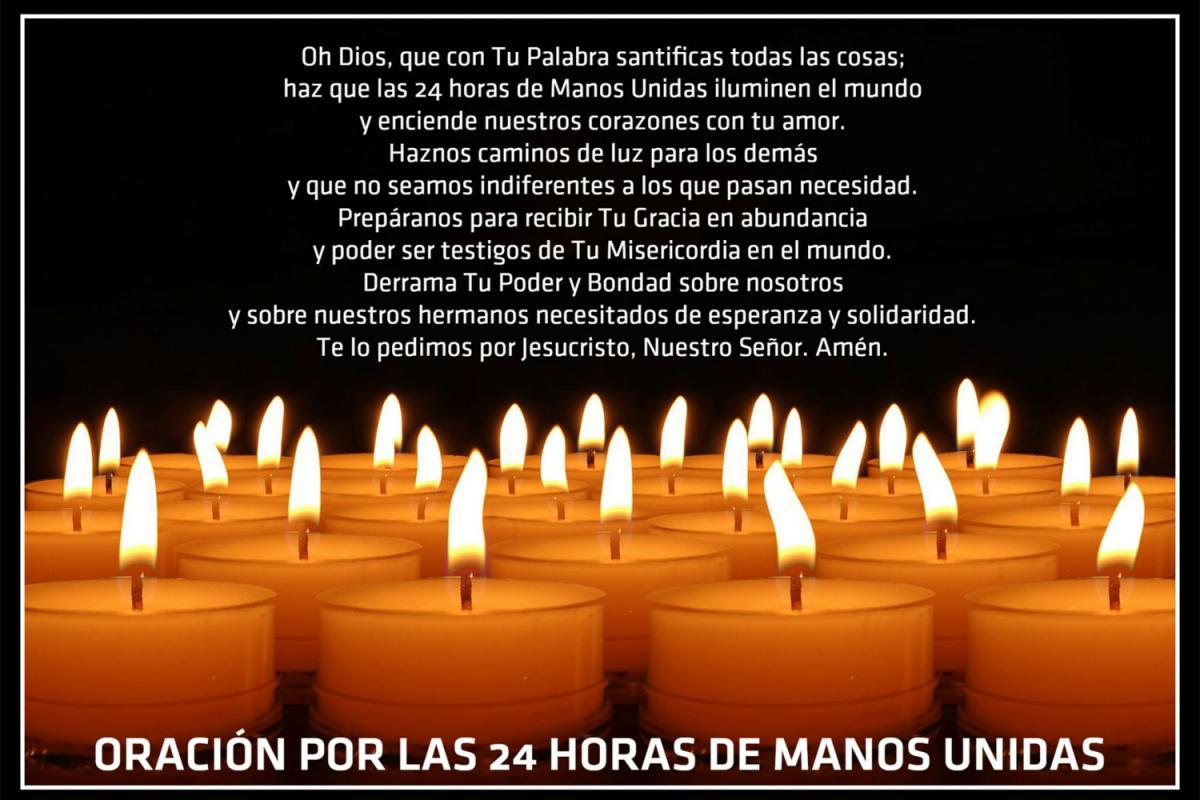 Foto de la oración por la Campaña Manos Unidas 24 Horas 2016