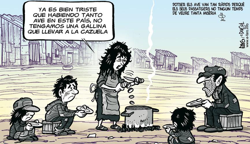 Humor gráfico sobre pobreza infantil e-faro.info