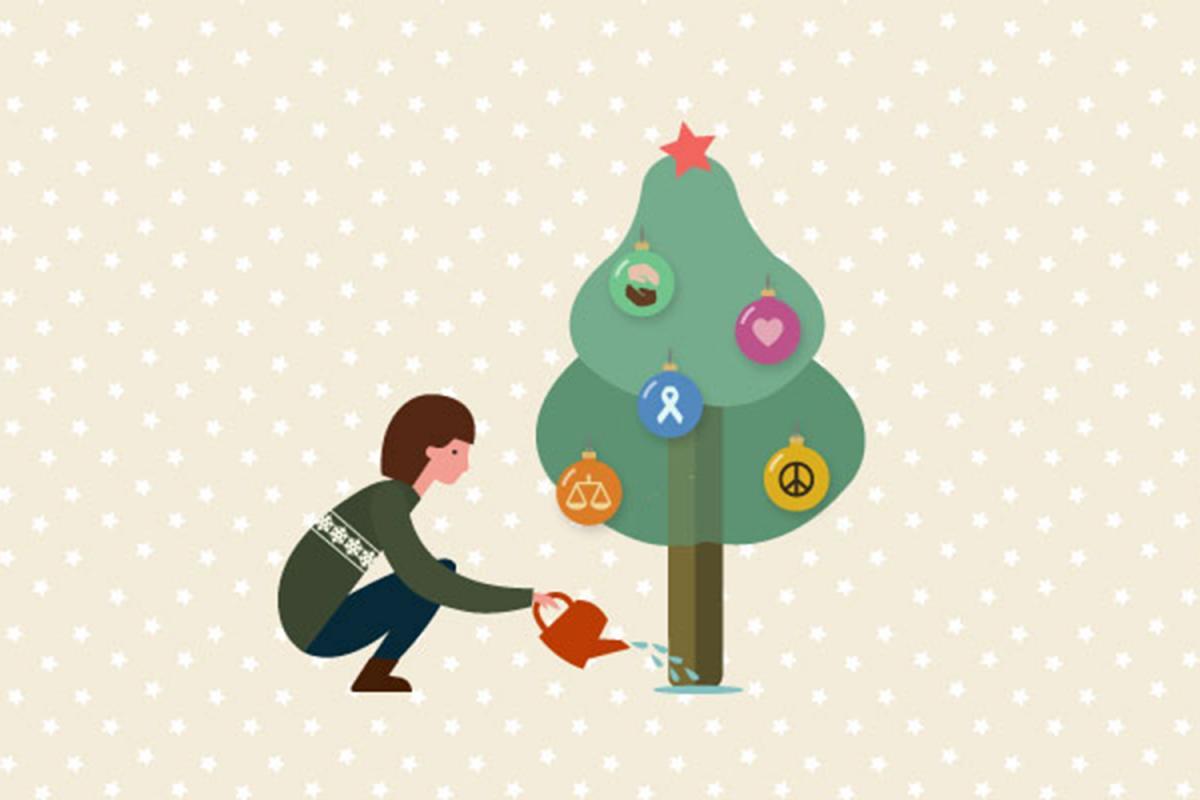 Postals de Nadal de Mans Unides