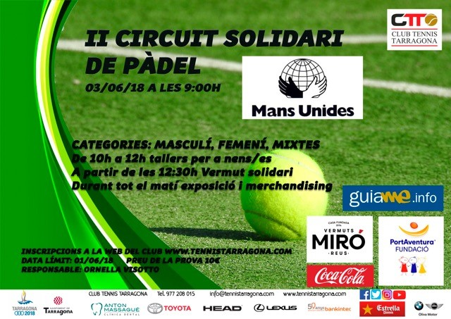 Pàdel Solidari al Club Tennis Tarragona