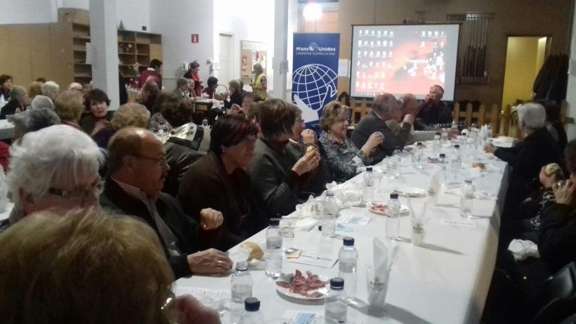 115 persones van assistir al sopar de la fam de la parròquia de Sant Ot