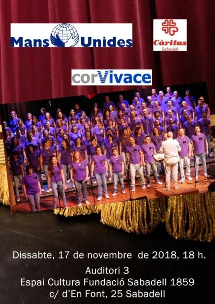 Concerto solidari de Mans Unides a Sabadell, 2018