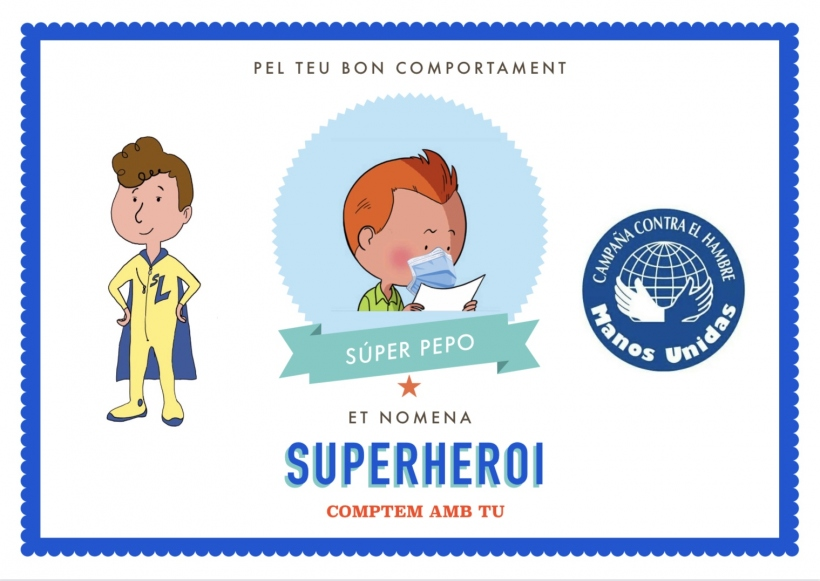 Diplomas de superhéroe para los alumnos