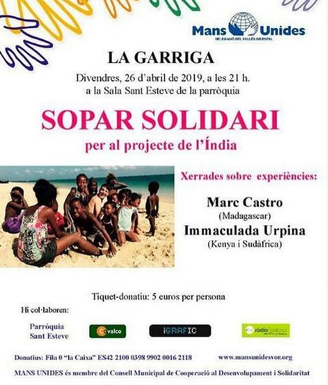 Sopar solidari a La Garriga