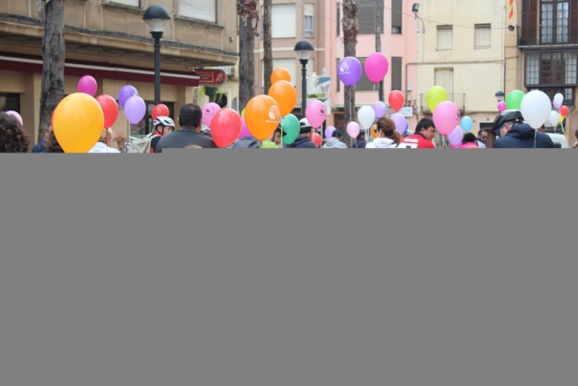 Moment de la sortida de la XXVI Marxa Ciclista de la Solidaritat