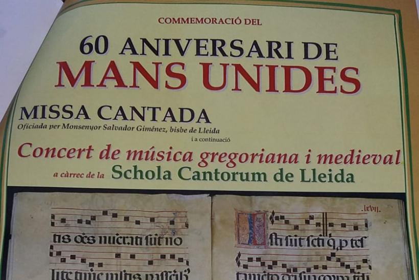 Missa cantada i concert de música gregoriana i medieval