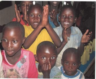 Niños preescolar Kabgayi. Ruanda