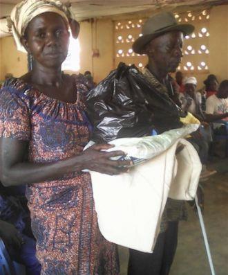 Personas invidentes en Kpassa Ghana