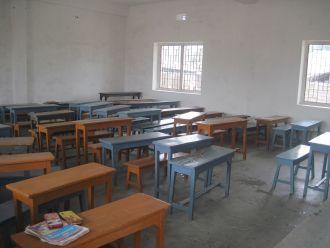 Aula de la Escuela de primaria de Bodmal, Sambalpur, India