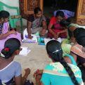 Mujeres beneficiarias de la Diócesis de Sivagangai (Tamil Nadu-India). Foto: SMSSS