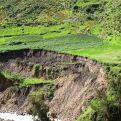 Derrumbes de campos a consecuencia de las fuertes lluvias