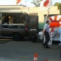 Dos dels food trucks que es van apuntar a la jornada solidària