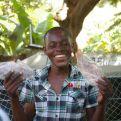 Uno de los beneficiarios del proyecto que acaba de finalizar en Haití. Foto. Nuestros Pequeños Hermanos