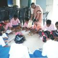 Charla sobre la Malaria en una escuela en la Índia