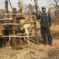 Yuwino junto a un corral para el ganado.