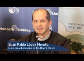 Juan Pablo López Mendía. Rueda de Prensa Campaña 2018. Manos Unidas. #Comparteloqueimporta
