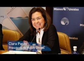Clara Pardo. Rueda de Prensa Campaña 2018. Manos Unidas. #Comparteloqueimporta