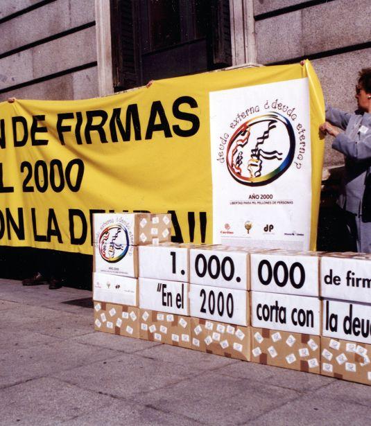 La campaña Deuda externa, ¿deuda eterna? consiguió un millón de firmas por la condonación de la deuda de los países más pobres