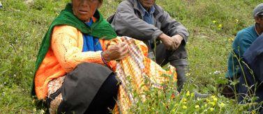 Campesinos de Kañaris, en Perú