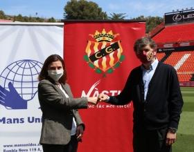 Firma conveni Nàstic amb Mans Unides