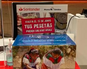 Guardioles a les oficines del Banc Santander