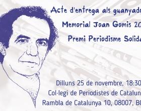 """Entrega dels premis als guanyadors del """"Memorial Joan Gomis 2019"""""""