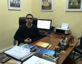 Mohamed Fuad Amrani al seu despatx d'ATIL