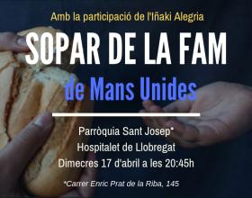 Sopar de la fam a la Parròquia Sant Josep de l'Hospitalet de Llobregat