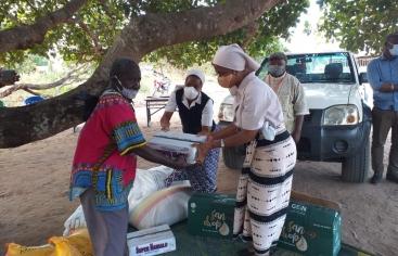 Ajuda humanitària a Cabo Delgado. Foto: Mans Unides / Diòcesi de Nacala
