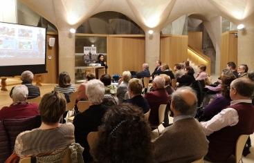 Diana Torres donant el seu testimoni vital