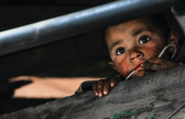 Niños en riesgo de desnutrición en Guatemala