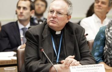 Monseñor Chica Arellano. Foto: ONU