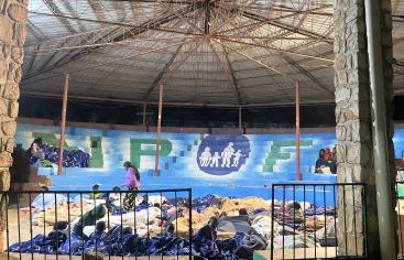 Alberg per a damnificats pel terratrèmol d'Haití. Foto:NPH