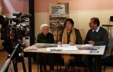 El misionero, Mario, con la presidenta-delegada Elisenda y la responsable comarcal de Terrassa, Glòria