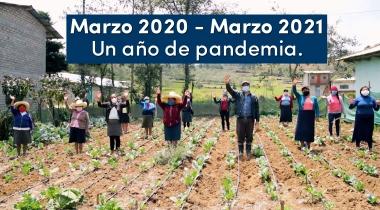 Coronavirus: un año de pandemia. Foto: Escaes (Perú) para Manos Unidas