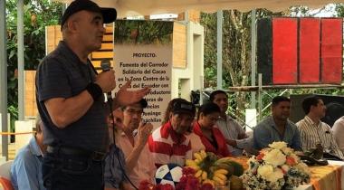 Foto Maquita - Inauguración del centro de acopio y vivero de cacao en la comunidad de El Retén