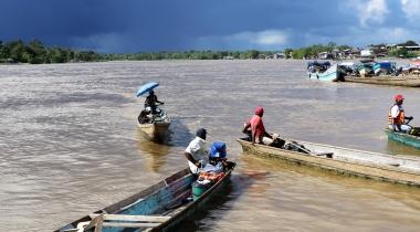 Río Atrato en el Chocó. Colombia. Foto: Manos Unidas/María José Pérez