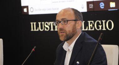 Guillermo González de la Torre, de Manos Unidas, en el momento de su exposición. Foto: •Centro de Responsabilidad Social del Ilustre Colegio de Abogados de Madrid.