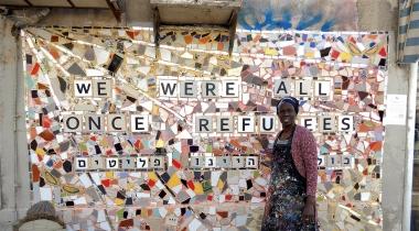 Mujer eritrea solicitante de asilo en istrale. Foto: Kuchinate/Manos Unidas